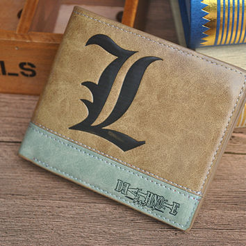 Death Note L Wallet With Coin Pocket Zipper Pouch