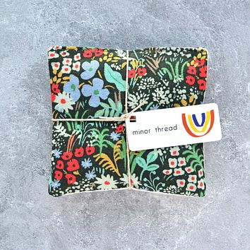 Organic Lavender Sachets in Meadow Floral Canvas - Set of 2