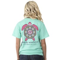 "Simply Southern ""Preppy Turtle"" Short Sleeve Tee"