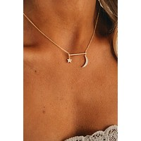 Celestial Charm Necklace (Gold)