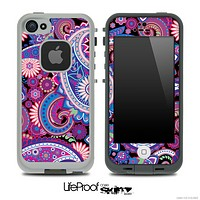 Vibrant Purple Paisley V5 Skin for the iPhone 5 or 4/4s LifeProof Case