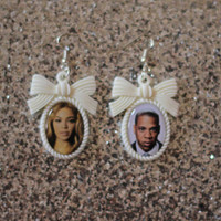 Beyonce and Jay Z cameo earrings - PIXIE and PIXIER