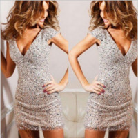 Sequins Evening Bodycon Dress B0014402