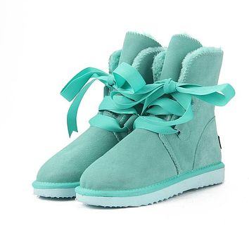 New Top Quality Fashion Snow Boots Genuine Leather Boots Warm Boots
