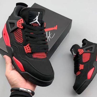 Image of Nike Air Jordan 4 Red Thunder Basketball Shoes Sneakers Shoes