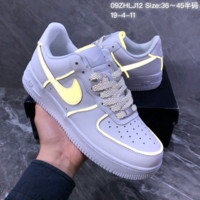 HCXX N1432 Nike Air Force 1 AF1 Static Refective Low Leather Casual Skate Shoes White