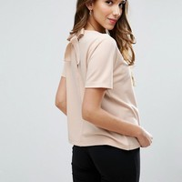 ASOS Top in Ponte With Bow Back at asos.com