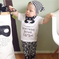 Nightmare Before Nap Time 2pc Baby Set 0-24MO Sizes Available
