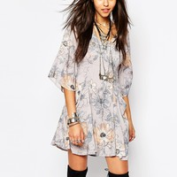 Free People Eyes On You Mini Dress In Floral Print