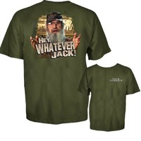 Duck Dynasty Hey Whatever Jack Adult Military Green T-Shirt