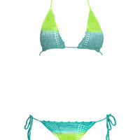 Ombre Itsy Bitsy in Aqua and Lime: Buy Beauty & The Beach
