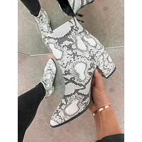 Dawson Ankle Booties (White Snake)