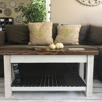 The Headhouse Table No. 48 - Large Handmade Solid Wood Farmhouse Coffee Table