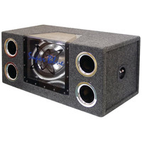 Pyramid BNPS122 Car Subwoofer System Dual Bandpass W/Neon Lights 12 1200W