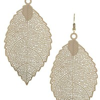 Filigree Leaf Dangle Earrings