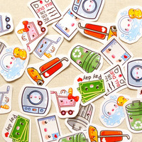 Cute Housework Planner Stickers- Kawaii Daily Chores Sticker Pack of 30, Life Planner Stickers, Scrapbook Journaling Spot, Shopping Stickers