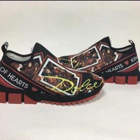 D&G Dolce & Gabbana Men's Women's  Leather Fashion Sneakers Shoes size 36-42