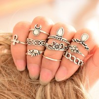 New Arrival Gift Stylish Shiny Jewelry Accessory Korean Vintage Bohemia Gemstone Ring + Gift Box  [9659151114]