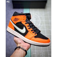 Air Jordan 1 Mid new tide brand men and women models wild high-top sneakers #6