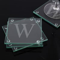 Custom Engraved Glass Coasters (Set of 4)