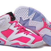 Air Jordan 6 Retro Aj6 White/pink Women Basketball Shoes Us 5.5 8 | Best Deal Online