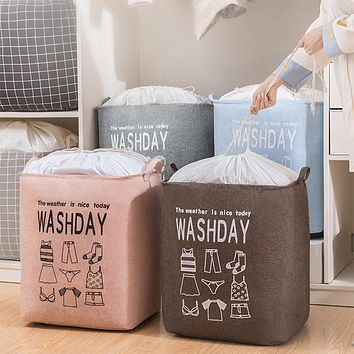 Cotton And Linen Giant, Quilt Clothing Beam Storage Bag, Waterproof Clothes Storage Basket, Large Capacity Dirty Clothes Hamper