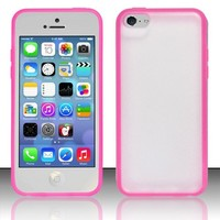 [Windowcell] Iphone 5c - Clear Pc+tpu Cover - Hot Pink Pctpu