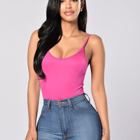 Keep It Simple Bodysuit - Magenta