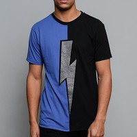 Two Tone Crystal Thunderbolt T-Shirt