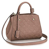 Authentic Louis Vuitton Montaigne BB Monogram Empreinte Handbag Article: M50693