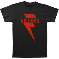 Killers Men's  Red Bolt T-shirt Black