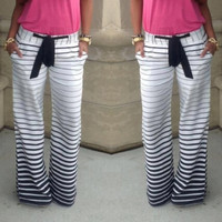 women Joggers Sport pants slim Striped Casual Trousers = 5979041025