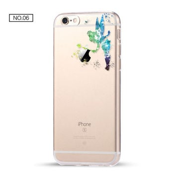 Tinkerbell Clear Soft Disney Phone Case For iPhone 7 7Plus 6 6s Plus 5 5s SE C