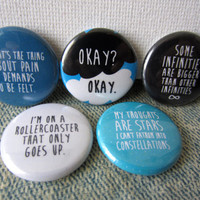 The Fault in Our Stars Pinback Button Set