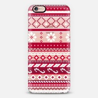 Red Fair Isle Christmas Pattern (transparent) iPhone 6s case by Noonday Design | Casetify