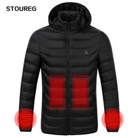 Winter Warm Heating Jackets Men Women Smart Thermostat Hooded Heated Clothing Men's Waterproof Skiing Hiking Fleece Jackets
