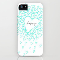 ***HAPPY HEARTS ***  iPhone & iPod Case by M✿nika  Strigel for iPhone 5 + 4S + 4 + 3GS + 3 G + iPod Touch
