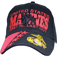 """US Marine Corps """"First in Last Out"""" Ball Cap"""