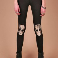 Lovestruck Skull Leggings | Edgy Leggings at Pink Ice