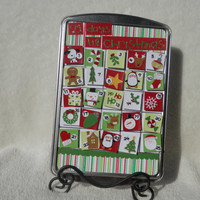 Magnetic Christmas Advent Calendar on Cookie Sheet
