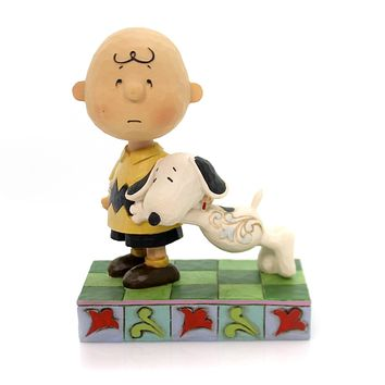 Jim Shore I'LL MISS YOU Polyresin Snoopy Charlie Brown 4057676