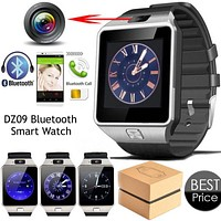 Smart Watch DZ09 with Men Women Bluetooth Electronics WristWatch SIM Card Smartwatch For Camera Android Phone Wearable Devices