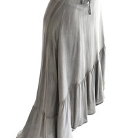 Around Town Skirt In Charcoal