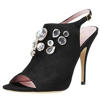 Kate Spade Womens Farrow Suede Embellished Dress Sandals