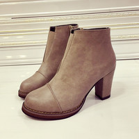 Casual Vintage Women's Leather Shoes