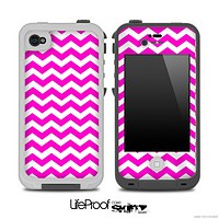 Hot Pink Chevron Pattern Skin for the iPhone 5 or 4/4s LifeProof Case