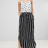 JDY Striped Woven Maxi Skirt at asos.com