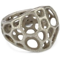 """Nervous System """"2-layer Center"""" Stainless Steel Ring, Size 9"""