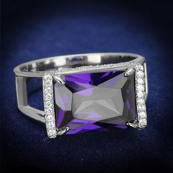 Sterling Silver Rings For Women TS417 Rhodium 925 Sterling Silver Ring