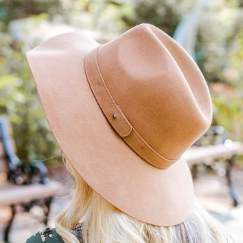 Pecan Felt Soft Floppy Hat